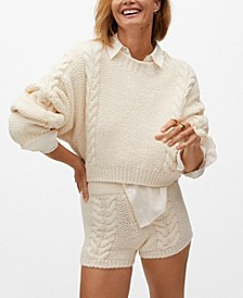 Women's Cable-Knitted Short