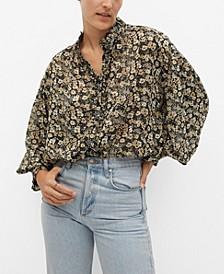 Women's Sheer Printed Blouse