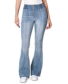 Juniors' High-Rise Flare Jeans