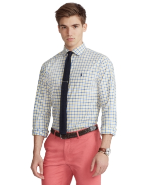 Polo Ralph Lauren Downs MEN'S CLASSIC-FIT PLAID POPLIN SHIRT