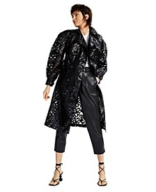 Illusion Lace Trench Coat, Created for Macy's