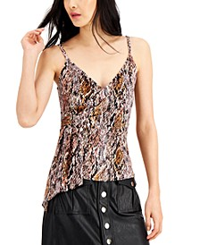 INC Draped Snake-Embossed Camisole, Created for Macy's