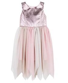 Toddler Girls Brocade Skirt Dress
