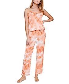 Rosalyn Sunburst Tie-Dyed Cami Pajama Set