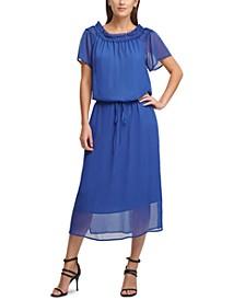 DKYN Ruched Off-The-Shoulder Dress
