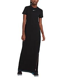 Women's Sportswear Icon Clash Cotton Maxi Dress