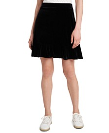 Lila Velvet Mini Skirt, Created for Macy's