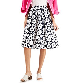 Miami Cotton Pleated Skirt, Created for Macy's