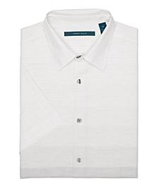 Men's Ombre Engineered Stripe Short Sleeve Button-Down Shirt