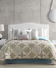 Lacy Comforter with 6 Bonus Pieces Set, Queen