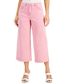 INC Millicent Pink Wide-Leg Jeans, Created for Macy's