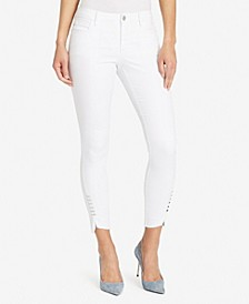 Women's Regular Skinny Twist Side Seam Jeans