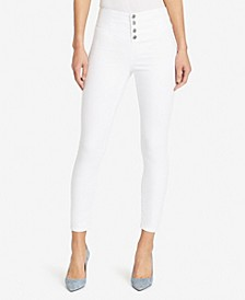 Women's Regular Highrise Skinny Corsette Seams Jeans