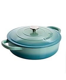 Artisan 5 Quart Round Enameled Braiser Pan with Self Basting Lid