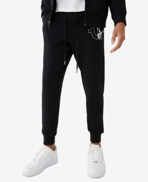 True Religion MEN'S HALF LOGO GREAT REVOLT JOGGER SWEATPANTS