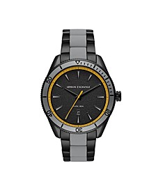 Men's Gray Stainless Steel Bracelet Watch 46mm