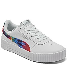 Big Girls Carina Leather Casual Sneakers from Finish Line