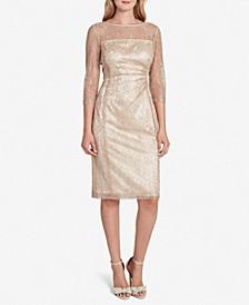 Allover-Lace Sheath Dress