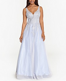 Embellished Appliqué Ball Gown
