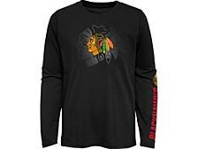 Kids Chicago Blackhawks Stop The Clock Long-Sleeve T-Shirt