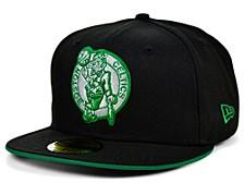 Boston Celtics Black Gray Pop 59FIFTY Cap