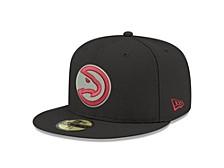 Atlanta Hawks Black Gray Pop 59FIFTY Cap