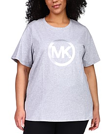 Plus Size Cotton Logo T-Shirt