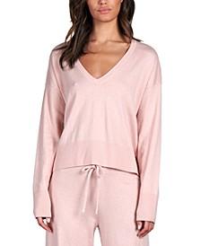 Essential Knit V-Neck Crop Sweater