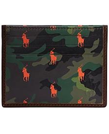 Men's Camo Leather Card Case