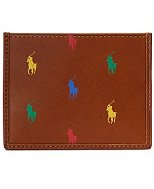 Men's Allover Pony Leather Card Case