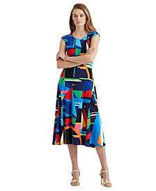 Geometric Print Midi Dress
