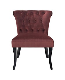 Rolled Tufted Velvet Accent Chair