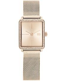 Women's Carnation Gold-Tone Mesh Bracelet Watch 21mm