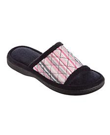 Isotoner Women's Diamond Quilted Renae Slide Slippers
