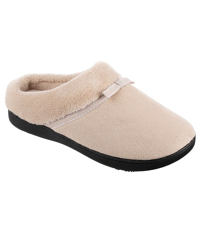 Isotoner Signature - Isotoner Women's Microterry Milly Hoodback Slippers