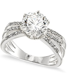 Silver-Plate Cubic Zirconia Triple Band Ring, Created for Macy's