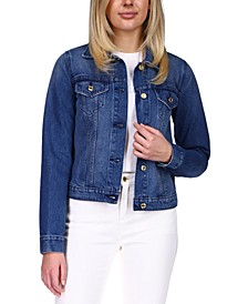 Cotton Denim Jacket, Regular & Petite Sizes