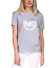 Foil-Print Logo Cotton T-Shirt, Regular & Petite Sizes