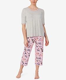 Printed Capri Pants Pajama Set