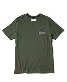 Men's Logo Chest Print and Symmetrical Logo Driven Back Print T-shirt