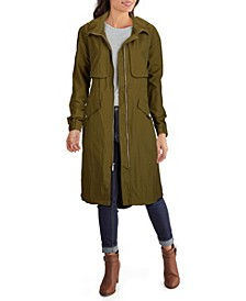Women's Crinkle Hooded Anorak Coat