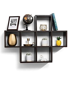 Floating Wall Shelves with 7 Square Cube