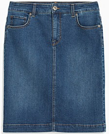 Cotton Denim Skirt, Created for Macy's