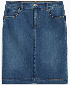 Style & Co. Cotton Denim Skirt, Created for Macy's