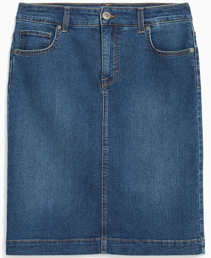 Style & Co - Cotton Denim Skirt