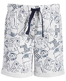 Toddler Boys Animal-Print Shorts, Created for Macy's