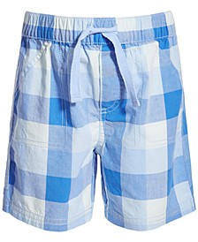 Toddler Boys Cool Water Plaid Cotton Shorts, Created for Macy's