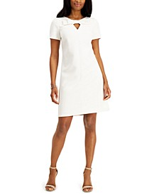 Bow-Front Shift Dress