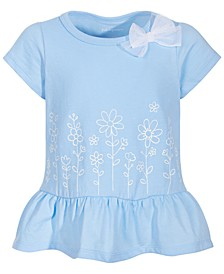 Toddler Girls Flower Border Peplum Top, Created for Macy's