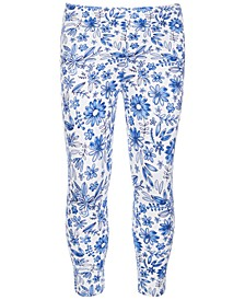 Toddler Girls Watercolor Floral-Print Leggings, Created for Macy's